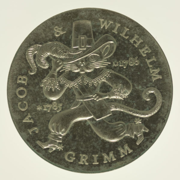 ddr-deutsche-silbermuenzen - DDR 20 Mark 1986 Grimm