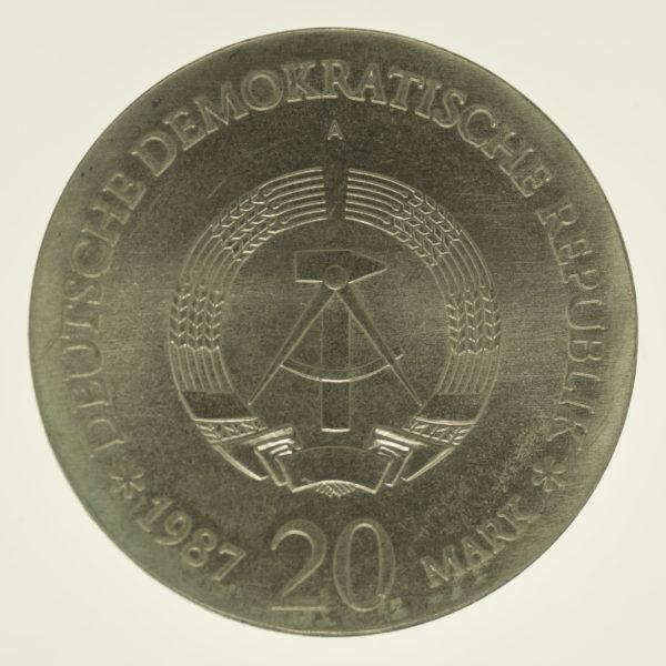 ddr-deutsche-silbermuenzen - DDR 20 Mark 1987 Stadtsiegel Berlin