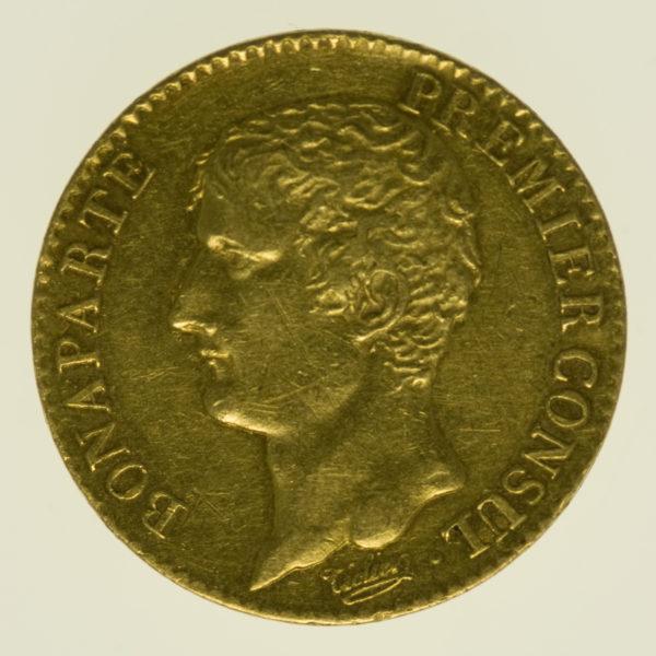 frankreich - Frankreich Bonaparte Premier Consul 20 Francs AN 12