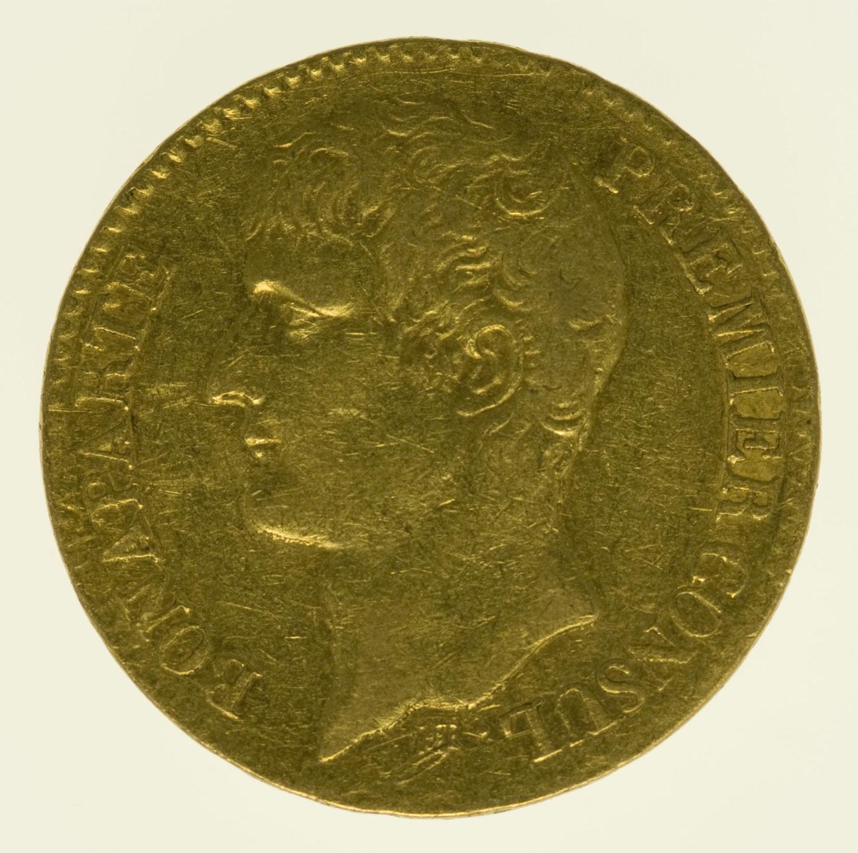 frankreich - Frankreich Bonaparte Premier Consul 40 Francs AN XI