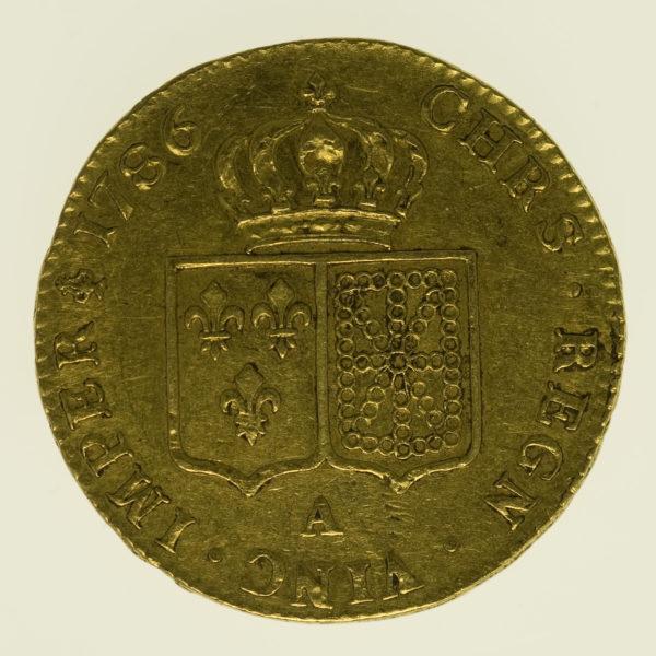 frankreich - Frankreich Louis XVI. Doppelter Louis d'or 1786 A