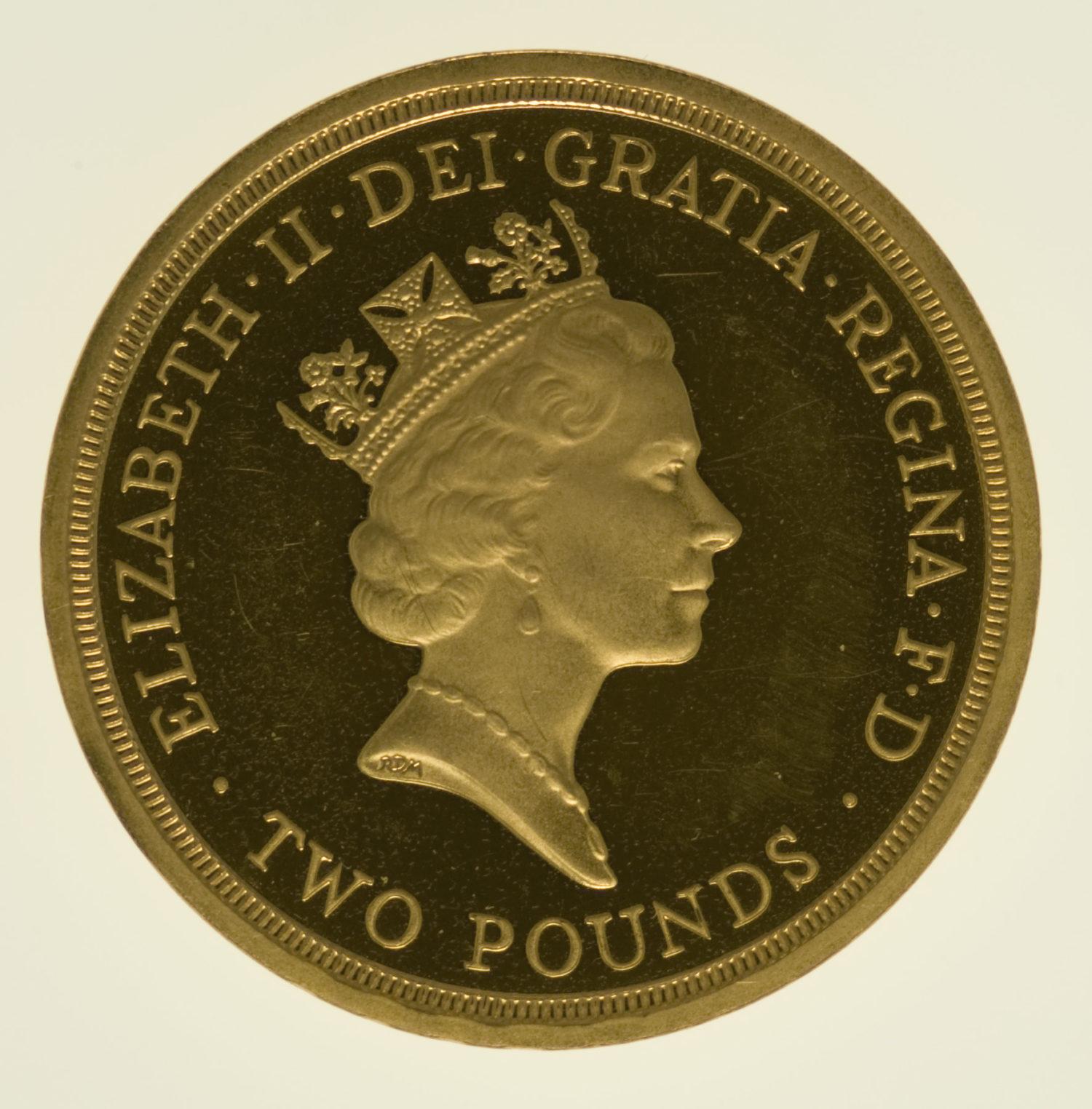 grossbritannien - Großbritannien Elisabeth II. 2 Pounds 1995