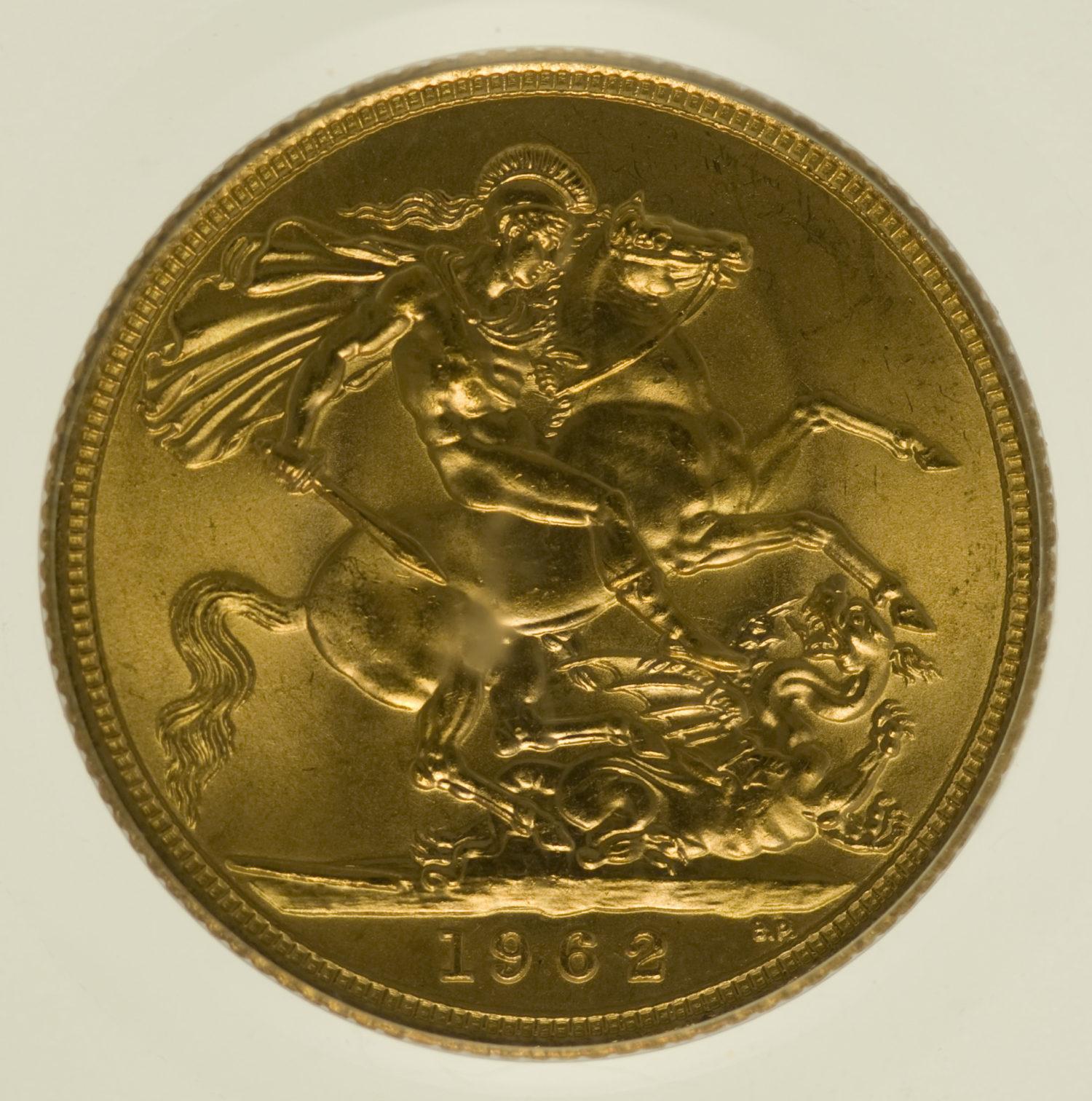 grossbritannien - Großbritannien Elisabeth II. Sovereign 1962