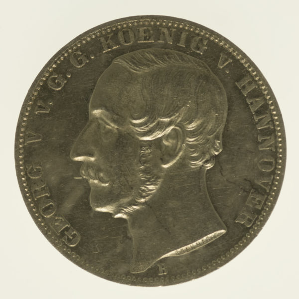 altdeutschland-deutsche-silbermuenzen - Hannover Georg V. Vereinstaler 1865