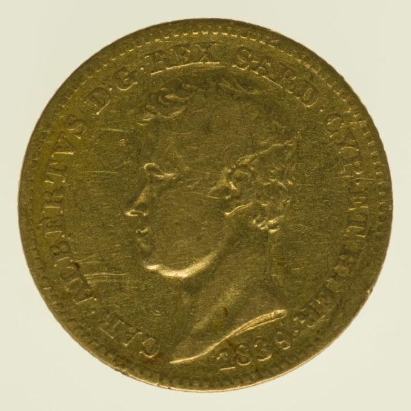 italien - Italien Sardinien Karl Albert 10 Lire 1839