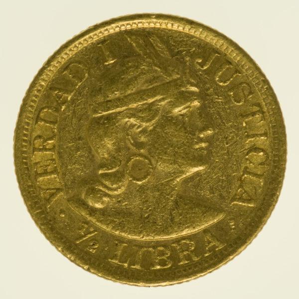 peru - Peru 1/2 Libra 1908