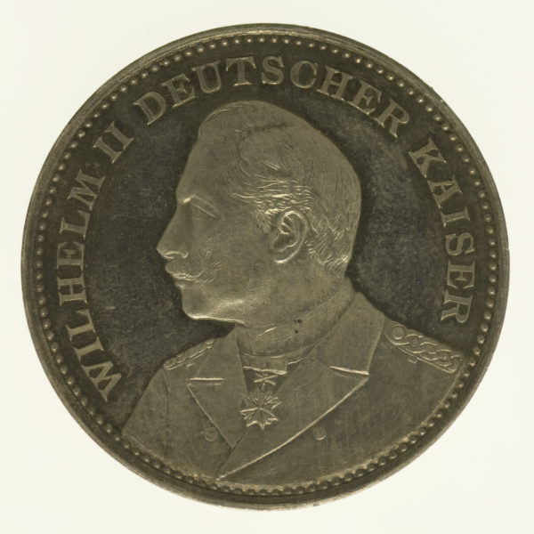altdeutschland-deutsche-silbermuenzen - Preussen Wilhelm II. Silbermedaille 1895
