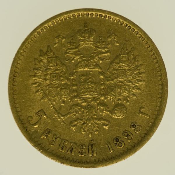 russland - RusslandNikolaus II. 5 Rubel 1898