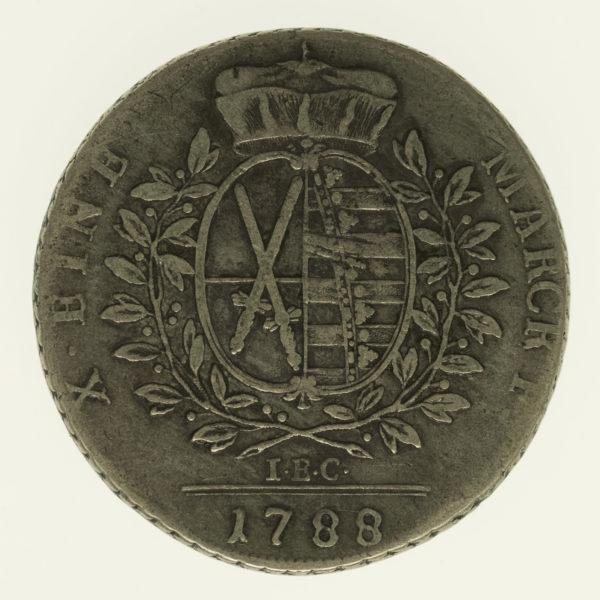 altdeutschland-deutsche-silbermuenzen - Sachsen Friedrich August III. Taler 1788
