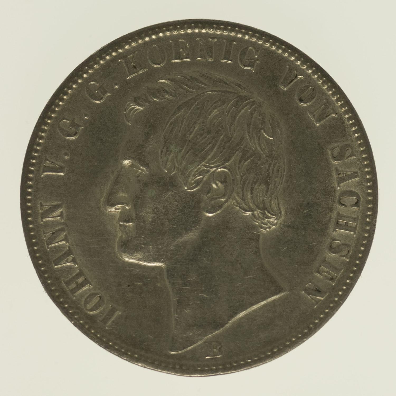 altdeutschland-deutsche-silbermuenzen - Sachsen Johann Vereinstaler 1869