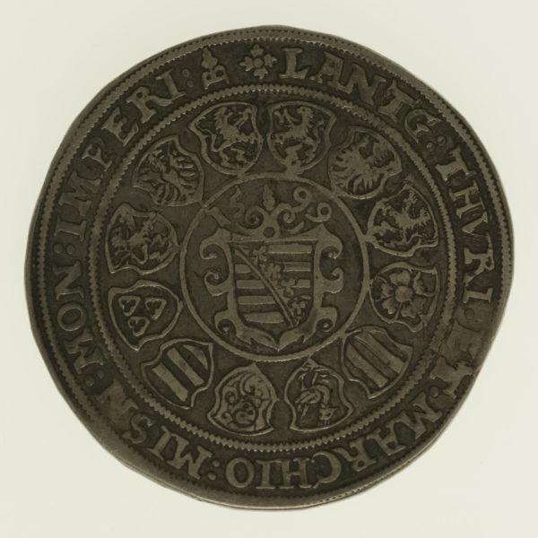 altdeutschland-deutsche-silbermuenzen - Sachsen Weimar Friedrich Wilhelm und Johann Taler 1599