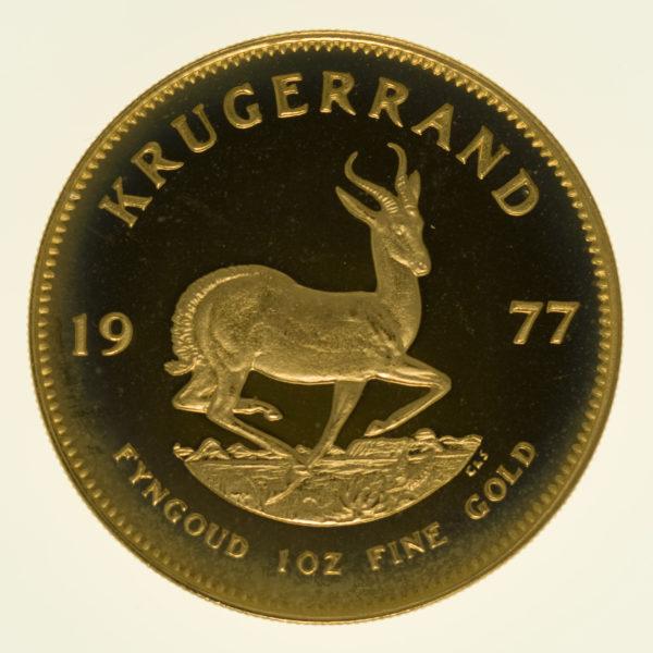 suedafrika - Südafrika Krügerrand 1 Unze 1977 proof