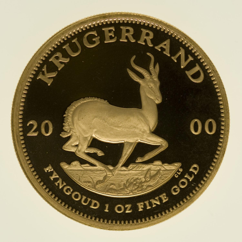 suedafrika - Südafrika Krügerrand 1 Unze 2000 proof