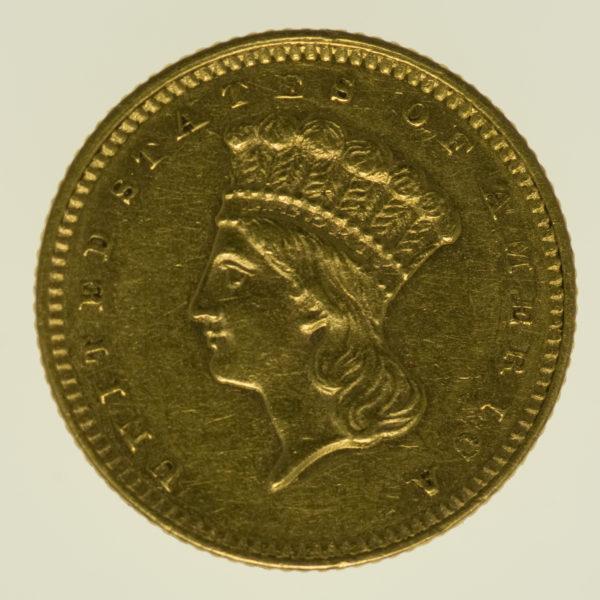 usa - USA 1 Dollar 1862 Liberty / Kopf