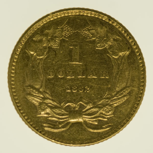 usa - USA 1 Dollar 1862 Liberty / Kopf