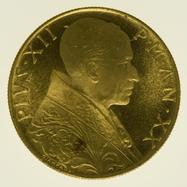 vatikan - Vatikan Pius XII. 100 Lire 1958