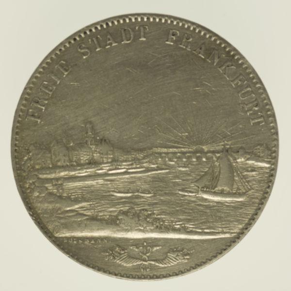 altdeutschland-deutsche-silbermuenzen - Frankfurt Stadt Doppeltaler 1840