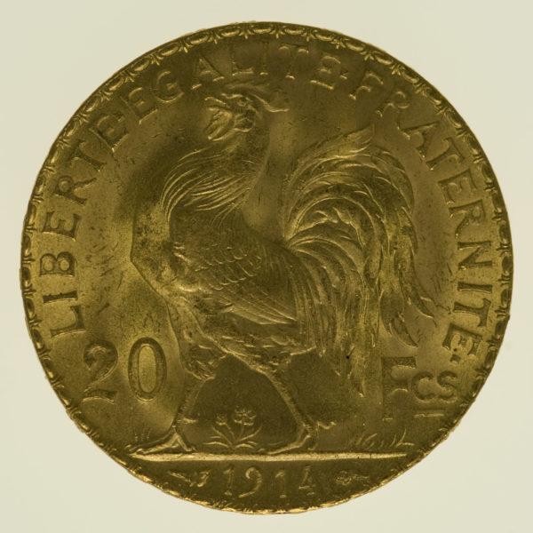 frankreich - Frankreich 20 Francs 1914 Marianne