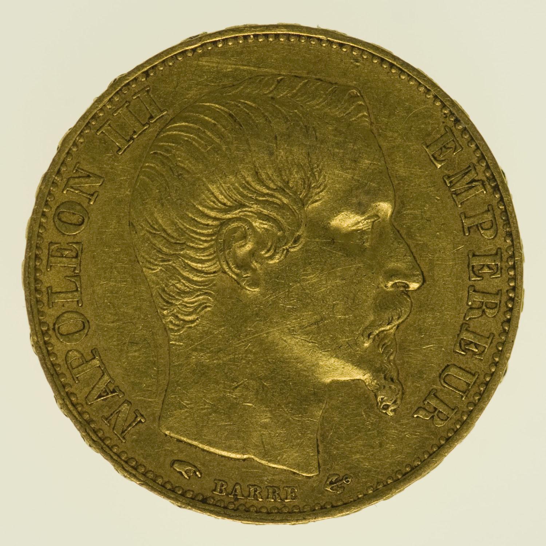 frankreich - Frankreich Napoleon III. 20 Francs 1856 A