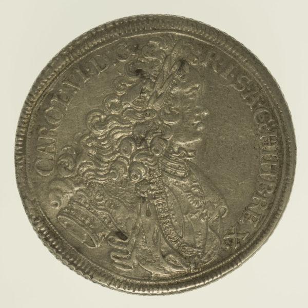 oesterreich-silbermuenzen-uebriges-europa - RDR Karl VI. Reichstaler 1717