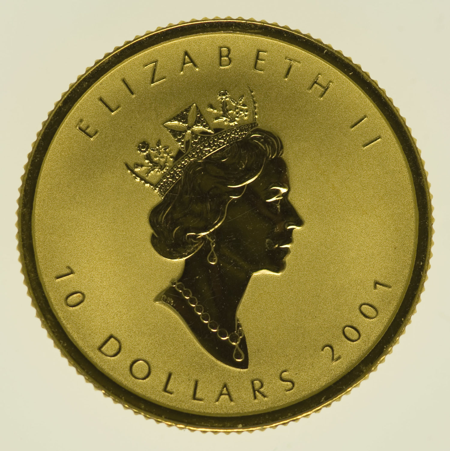 kanada - Kanada Elisabeth II. 10 Dollars 2001 Maple Leaf