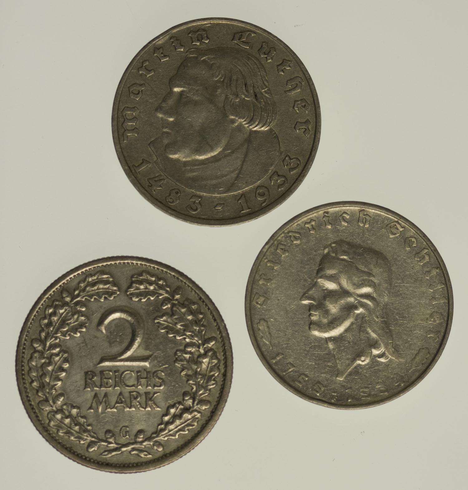 weitere-silbermuenzen - Münzen Mix / Lot