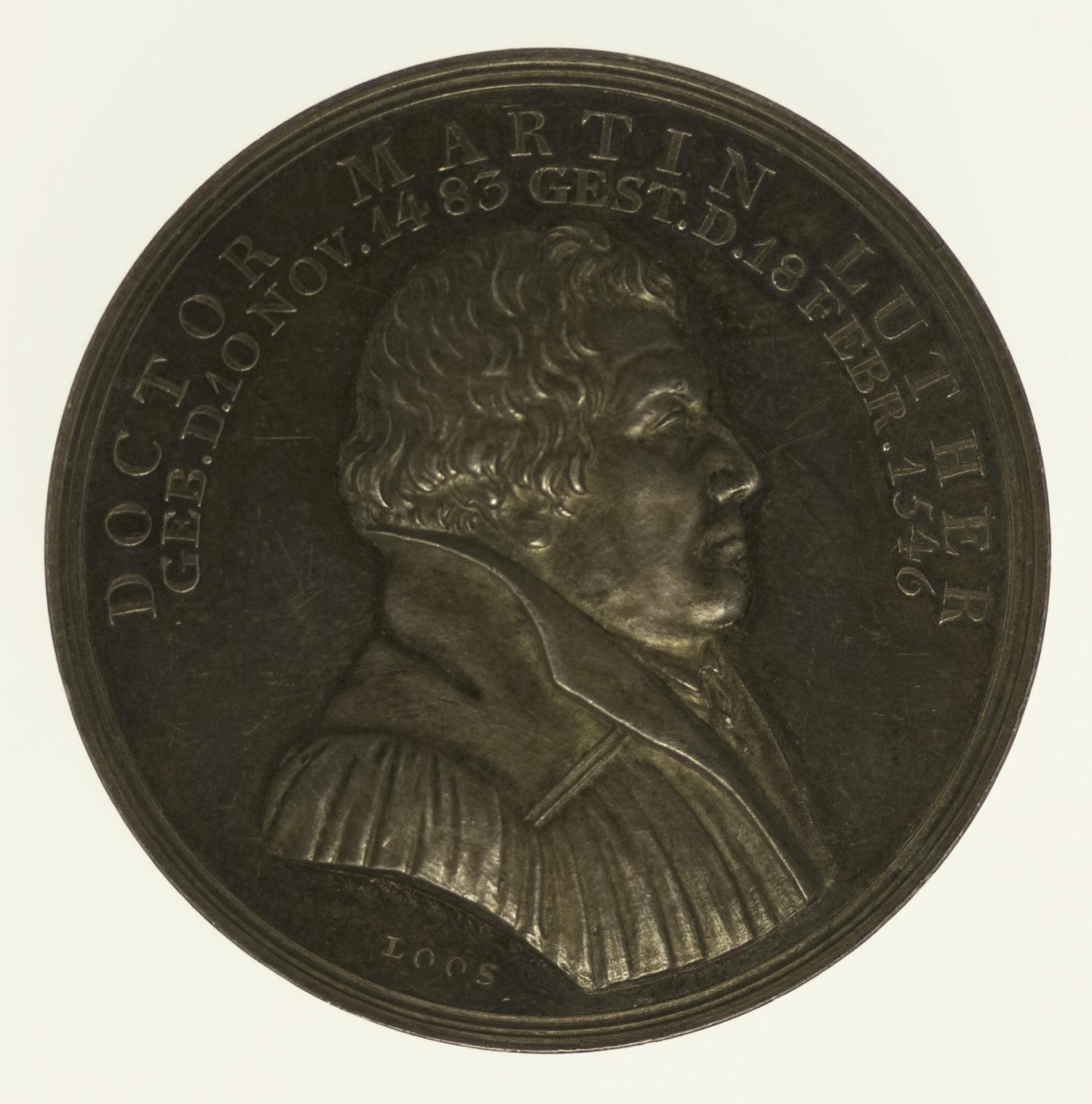 altdeutschland-deutsche-silbermuenzen - Silbermedaille 1817 Martin Luther