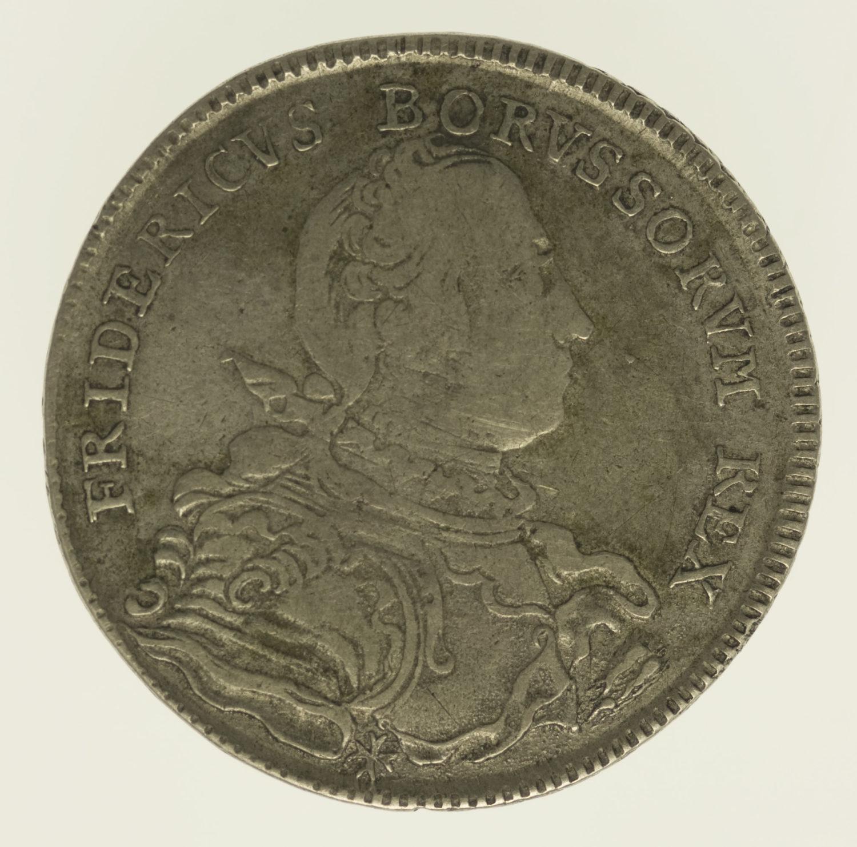 altdeutschland-deutsche-silbermuenzen - Preussen Friedrich II. 1/2 Taler 1751