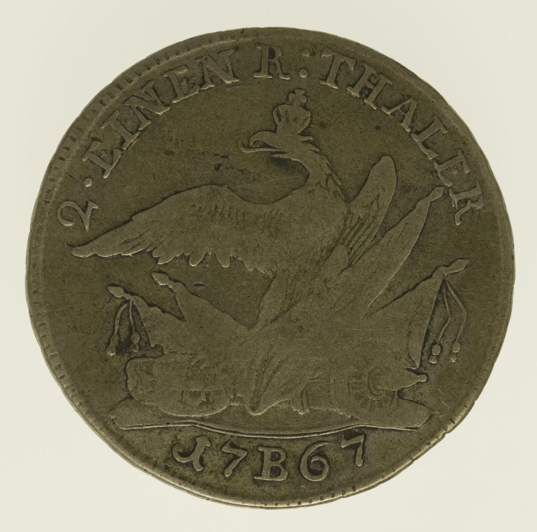 altdeutschland-deutsche-silbermuenzen - Preussen Friedrich II. 1/2 Taler 1767