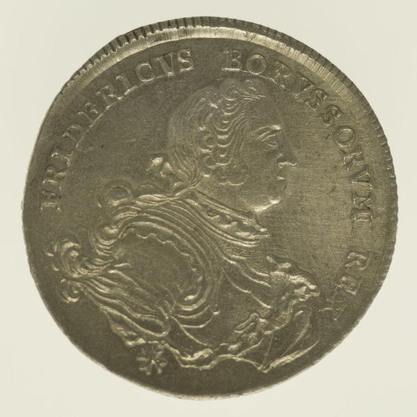 altdeutschland-deutsche-silbermuenzen - Preussen Friedrich II. 1/4 Taler 1752