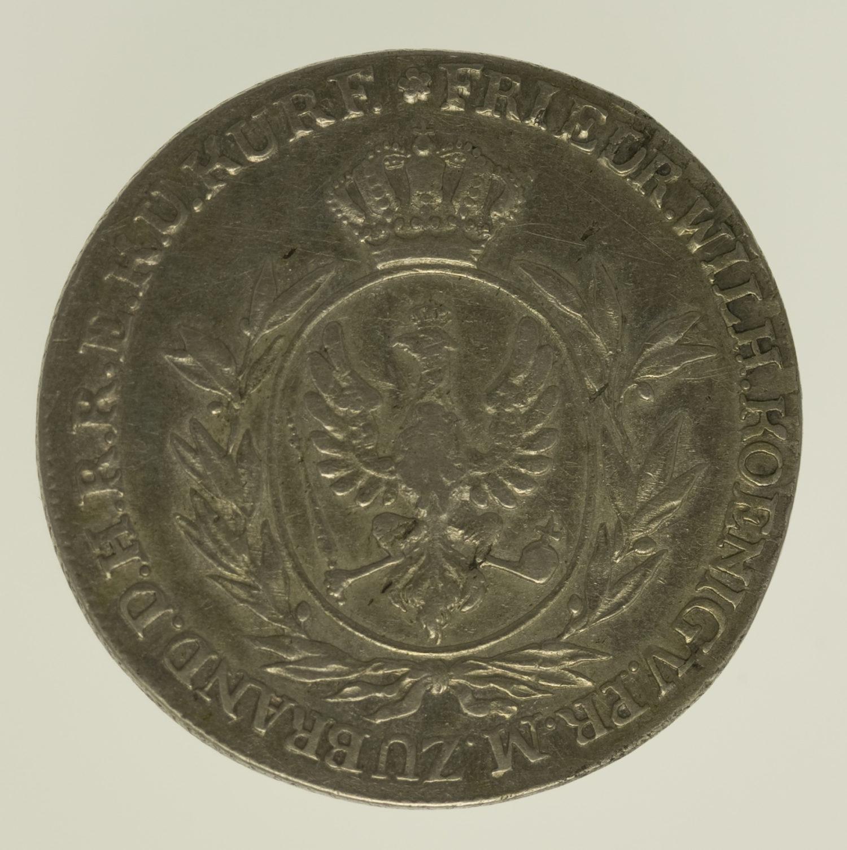 altdeutschland-deutsche-silbermuenzen - Preussen Friedrich Wilhelm III. 2/3 Taler 1801