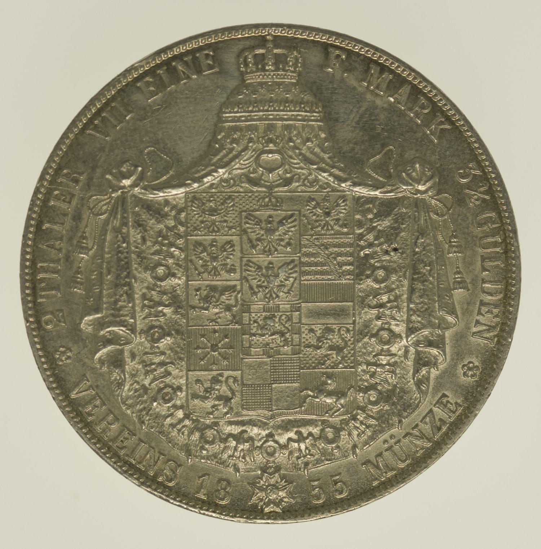 altdeutschland-deutsche-silbermuenzen - Preussen Friedrich Wilhelm IV. Doppeltaler 1855