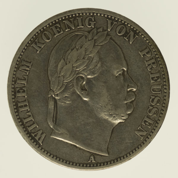 altdeutschland-deutsche-silbermuenzen - Preussen Wilhelm I. Taler 1866