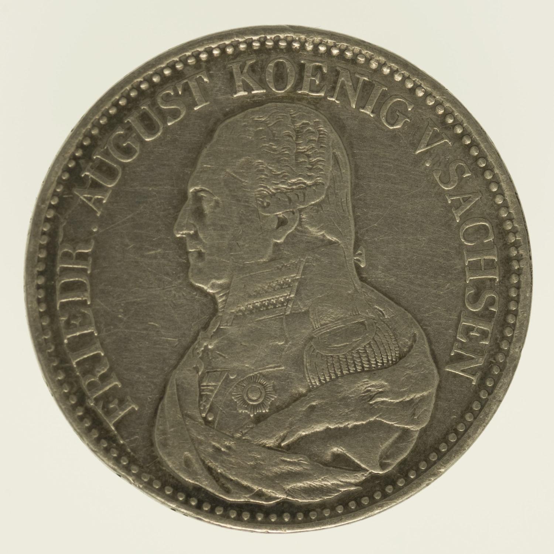 altdeutschland-deutsche-silbermuenzen - Sachsen Friedrich August I. Taler 1826