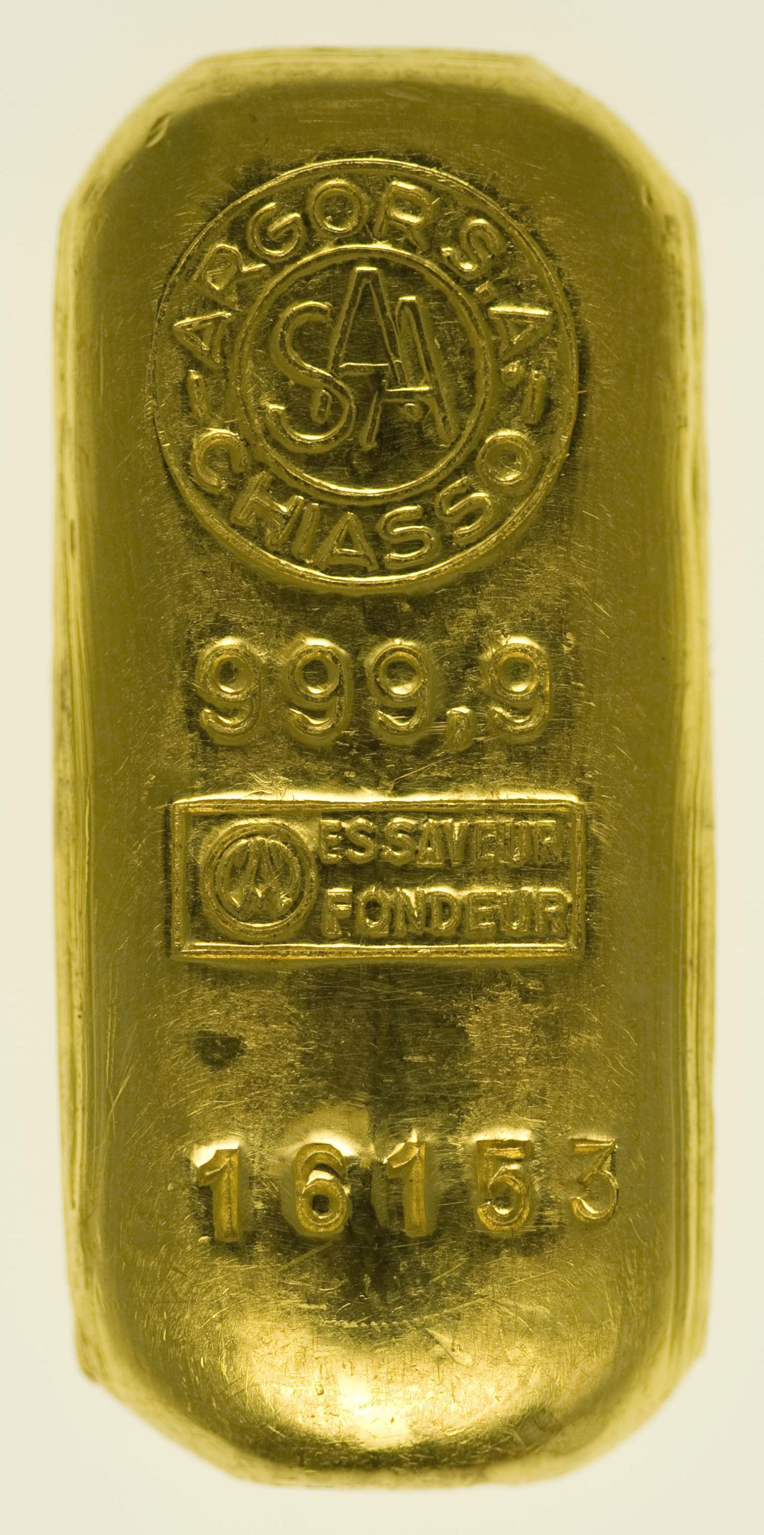 goldbarren - Goldbarren 50 GrammArgor S. A. Chiasso
