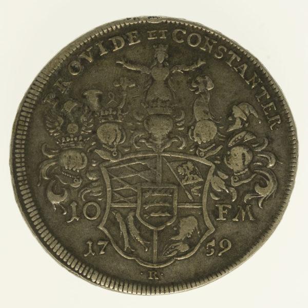altdeutschland-deutsche-silbermuenzen - Württemberg Karl Eugen Taler 1759