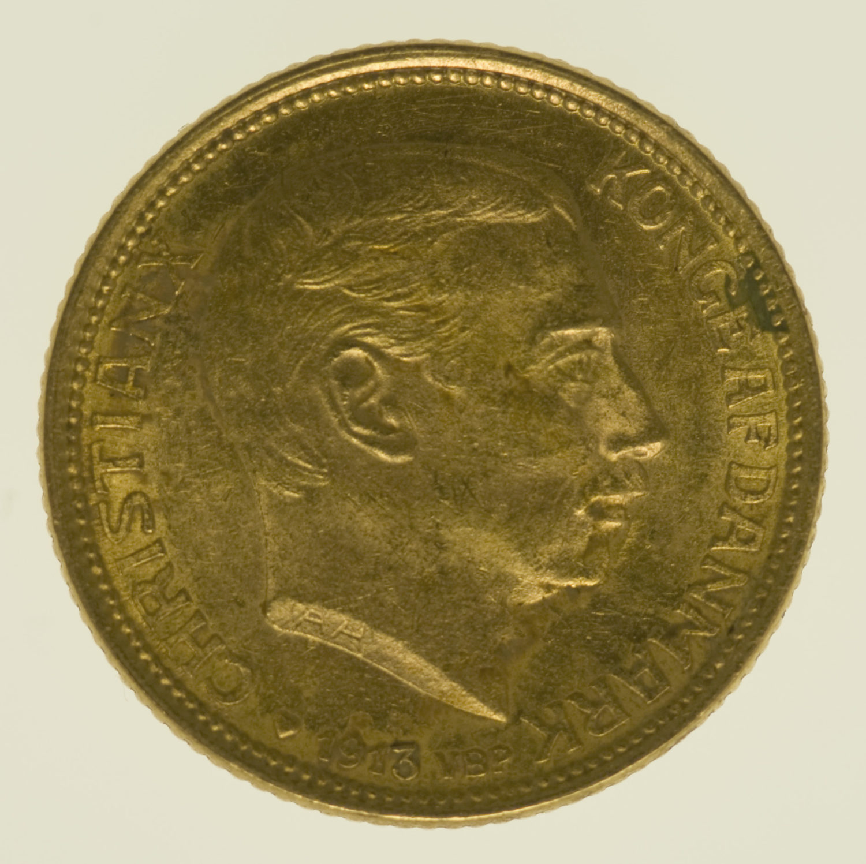 daenemark - Dänemark Christian X. 10 Kronen1913