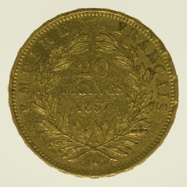 frankreich - Frankreich Napoleon III. 20 Francs 1857 A