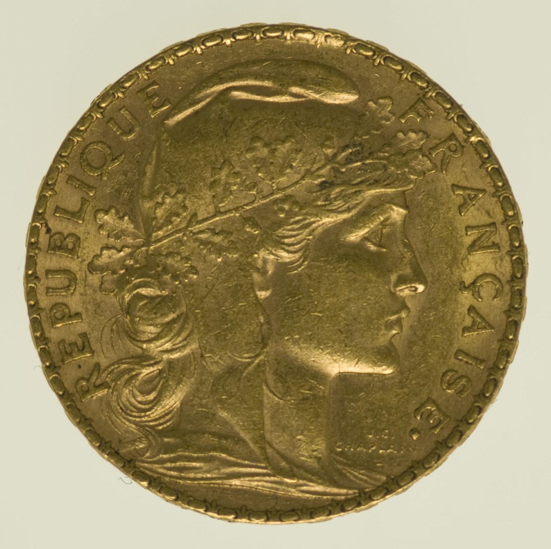 frankreich - Frankreich 20 Francs 1908 Marianne