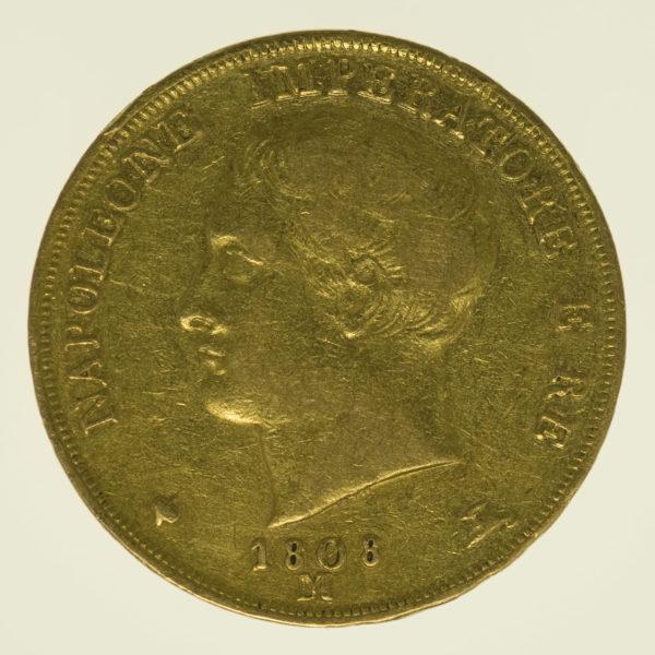 italien - Italien Napoleon I. 20 Lire 1808 M