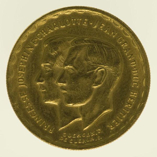luxemburg - Luxemburg Charlotte Goldmedaille 1953