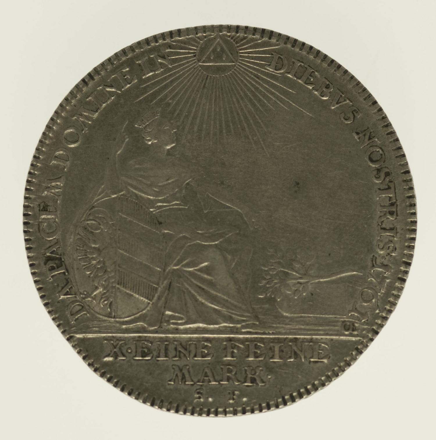 altdeutschland-deutsche-silbermuenzen - Nürnberg Stadt Konventionstaler 1761
