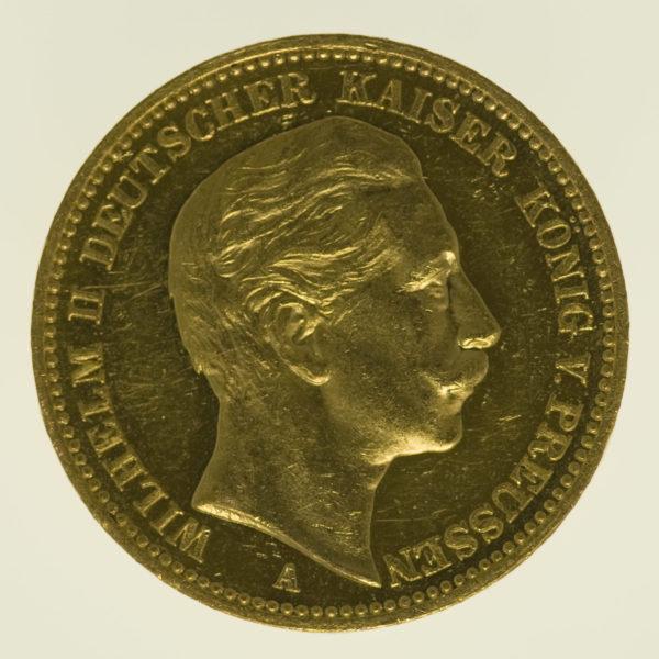 deutsches-kaiserreich-ab-1871 - Preussen Wilhelm II.20 Mark1900