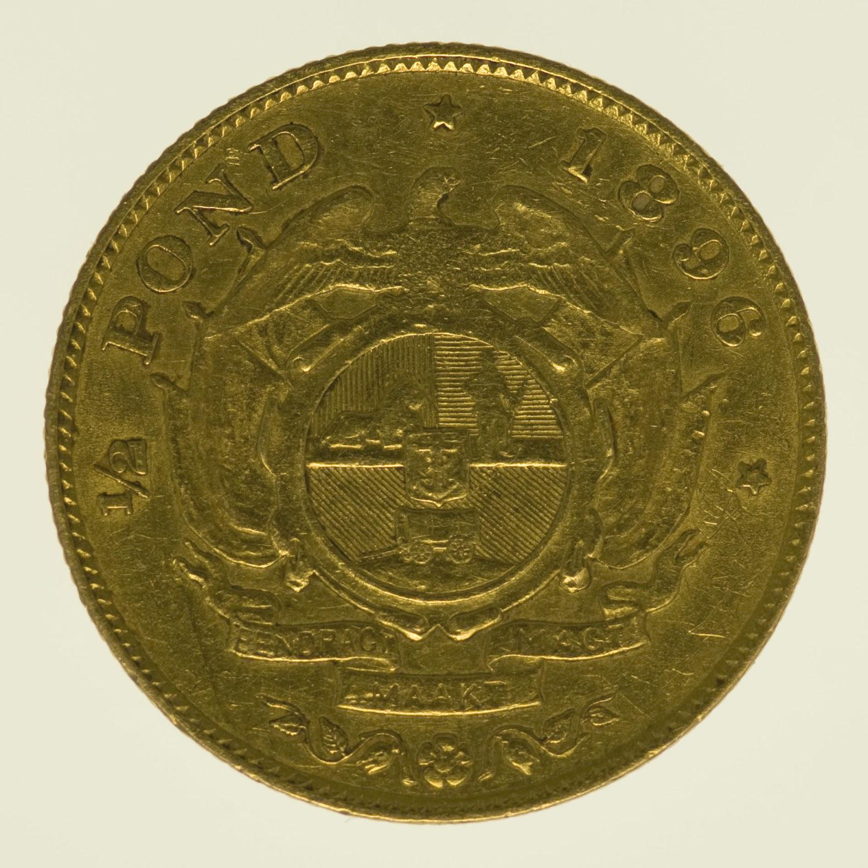 suedafrika - Südafrika 1/2 Pond 1896