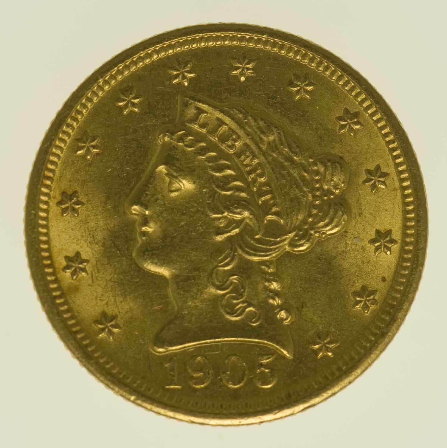 usa - USA 2,5 Dollars 1905 Liberty / Kopf