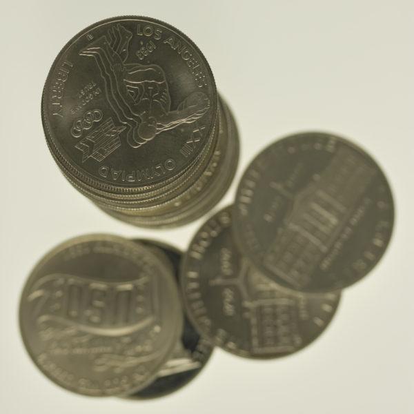 usa-silbermuenzen-uebrige-welt - USA Münzen Lot Commemorativ Dollar