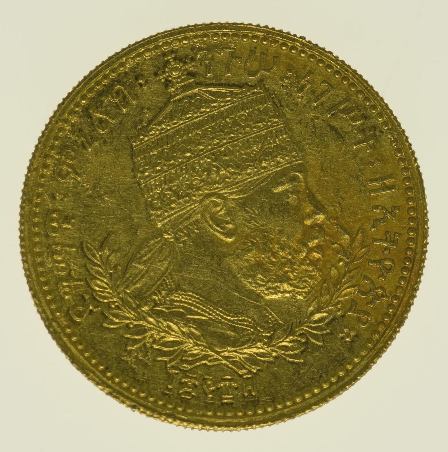aethiopien - Äthiopien Menelik II Wark 1897