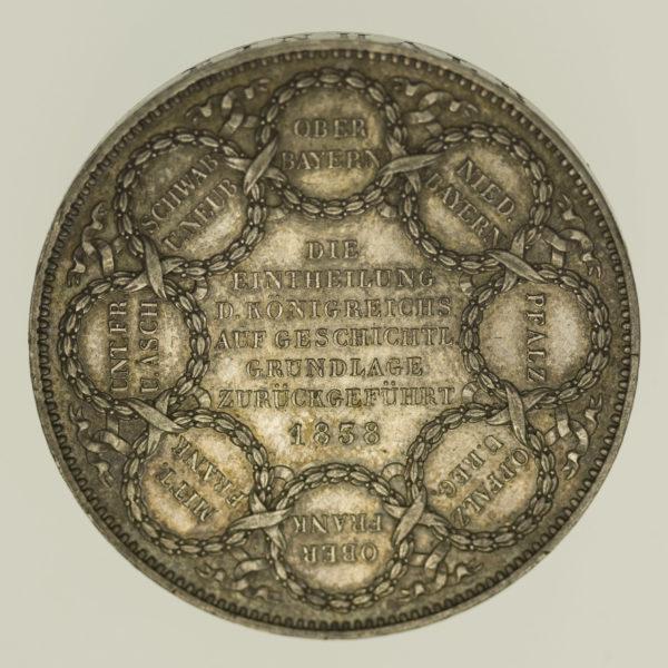 altdeutschland-deutsche-silbermuenzen - Bayern Ludwig I. Gedenk - Doppeltaler 1838