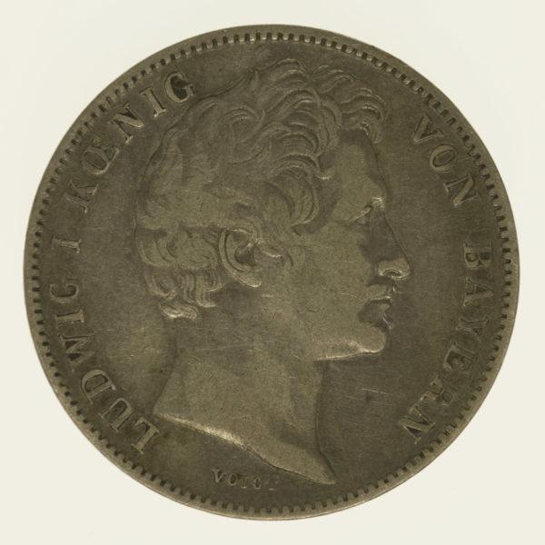 altdeutschland-deutsche-silbermuenzen - Bayern Ludwig I. 1/2 Gulden 1841