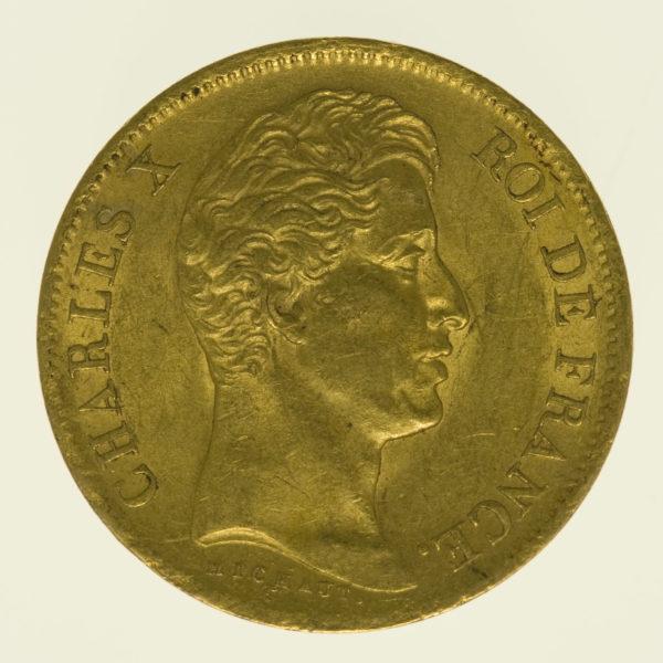 frankreich - Frankreich Charles X. 40 Francs 1830 A